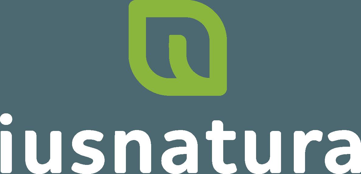 logo Ius Natura Logo Vertical Logomarca branca